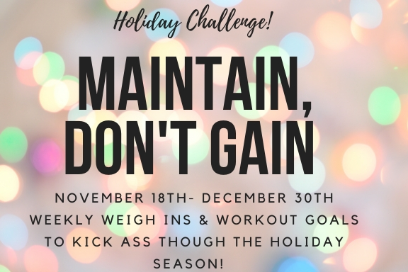 Maintain, Don't Gain Holiday Challenge!
