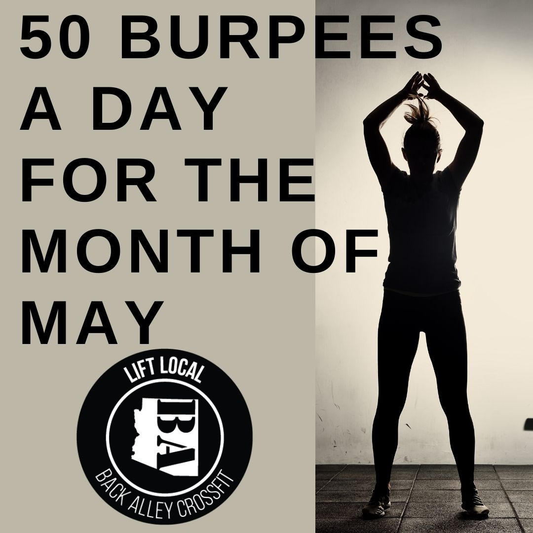 50 Burpees a Day in the Month of May!
